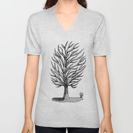 Windswept Tree Unisex V-Neck