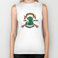 quidditch Biker Tanks featuring Slytherine quidditch team captain by JanaProject