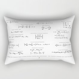 High-Math Inspiration 01 - Black Rectangular Pillow