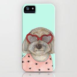 Heart eyeglasses iPhone Case