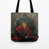 fullmetal Tote Bags featuring Don't Forget by Xeraki