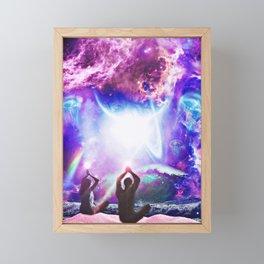 Meditating Lovers Framed Mini Art Print