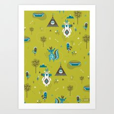 Camp Wichita Boys Art Print