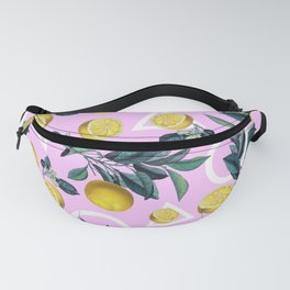 Geometric and Lemon pattern Fanny Pack
