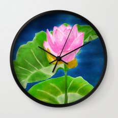 Pink Lotus Beauty Wall Clock