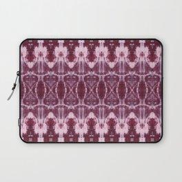 Burgundy Shibori Laptop Sleeve