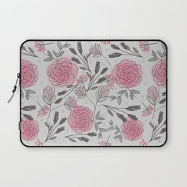 Soft and Sketchy Peonies Laptop Sleeve