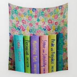 Jane Austen Library Wall Tapestry
