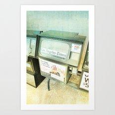 Empty _ LA times vending machine Art Print