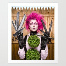 Lady Scissorhands Art Print
