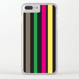 bold stripes and color Clear iPhone Case