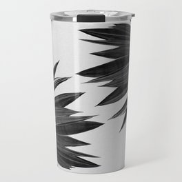 Agave Cactus Black & White Travel Mug