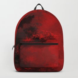 Red and Black Abstract Backpack
