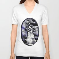 mother V-neck T-shirts featuring Mother by Christa Bethune Smith