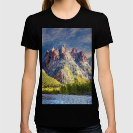 Colorado Rocky Mountain First Snow Maroon Bells T-shirt
