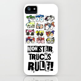Monster Truck Kid Art by Tucker iPhone Case