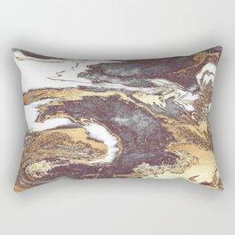Black White Gold Rectangular Pillow