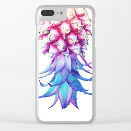 Sea Pineapple - Pink and Blue Clear iPhone Case