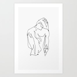 minimal drawing  Art Print