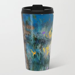 Spruce Trees Rocks Modern Landscape Paintings Travel Mug