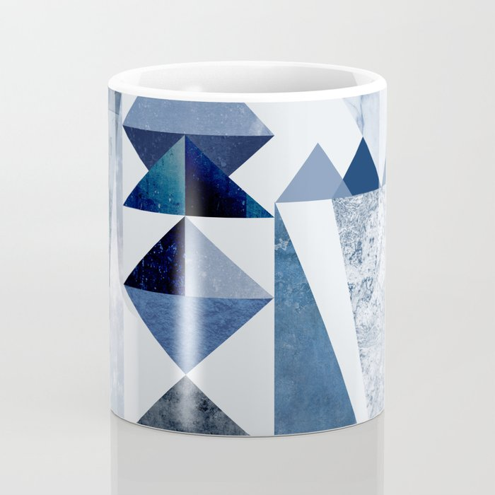 Blue Shapes Coffee Mug