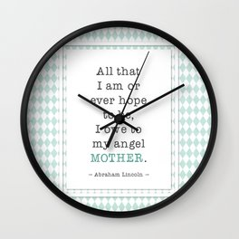Mother Abraham Lincoln Wall Clock
