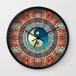Bohemian Batik Yin Yang Wall Clock