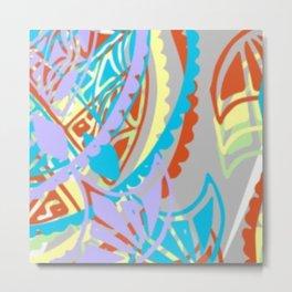 Flying kites-study in pastels Metal Print
