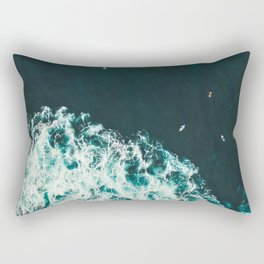 WAVES - OCEAN - SEA - WATER - COAST - PHOTOGRAPHY Rectangular Pillow