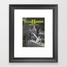 HelloHorror Issue 17 - Dante's Inferno Framed Art Print