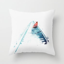 From nowhere to nowhere Throw Pillow