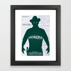 WESTWORLD Framed Art Print
