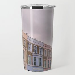 Colourful houses in Notting Hill, London Travel Mug