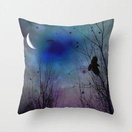 Just Around Midnight Throw Pillow
