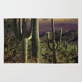 Saguaro Cactuses in Saguaro National Park Rug