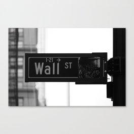 Wall St. Minimal - NYC Canvas Print