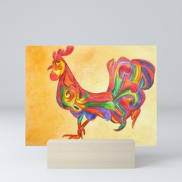 Abstract Rooster Mini Art Print