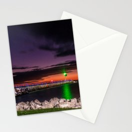 North Breakwater Lighthouse at Sunset Stationery Cards