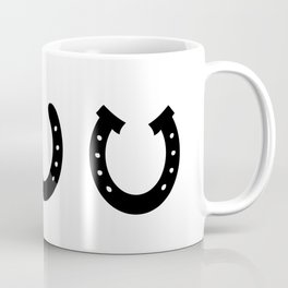 Black Horseshoes Coffee Mug