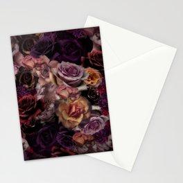 Big Opulent Roses Antique Botanical Garden Stationery Cards