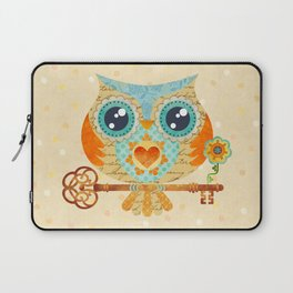 Owl's Summer Love Letters Laptop Sleeve
