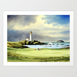 Turnberry Golf Course 10th Green Art Print