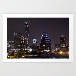 Nighttime Austin Art Print