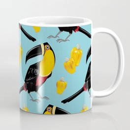 Brazilian Birds & Fruits - Channel-billed Toucan + cashews Coffee Mug