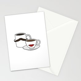 The Caffeinated Couple Stationery Cards