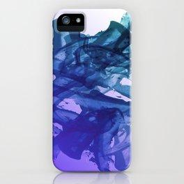 Blue Violet Bends iPhone Case