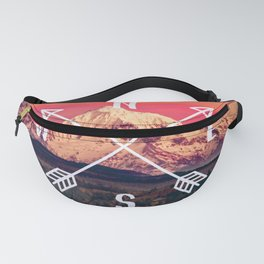 Snowy Mountain Compass Fanny Pack