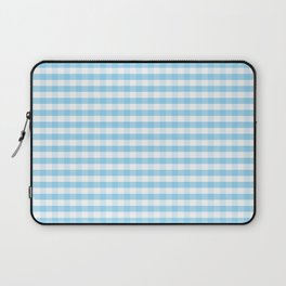 Blue and white plaids Laptop Sleeve