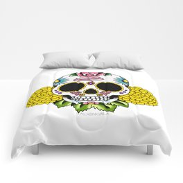 Day of the Dead Flash | Sugar Skull 2 Comforters