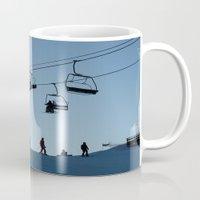 ski Mugs featuring ski by Sébastien BOUVIER